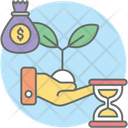 Growth Investing Dollar Plant Business Growth Icon
