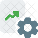 Growth Management Analysis Management Graph Icon