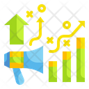 Growth Marketing Graph Growth Property Icon