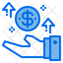 Growth Money Hand Icon