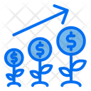 Money Coin Tree Icon