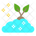 Brain Growth Plant Icon