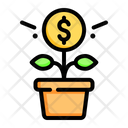 Growth Coin Money Icon