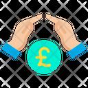 Growth Coins Pound Icon