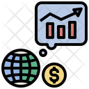 Growth Projection Scenario World Economic Icon