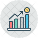 Growth Rate Increase Business Growth Icon