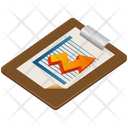 Report Clipboard Growth Icon