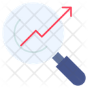 Growth Search Icon