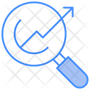 Graph Growth Lense Icon
