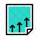 Growth Sheet Growth Document Business Growth Icon