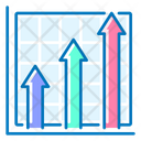 Growth Up Graph Analysis Icon