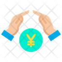 Growth Coins Yen Icon