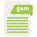 Gsm Format Document Icon