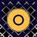 Circle Medal Of Guard Icon