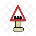 Guarded Level Crossing Icon