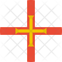 Guernsey Flag Country Icon
