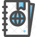 Guide Book Travel Map Icon