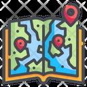 Guide Book Map Location Icon