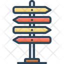 Guideline Direction Sign Post Icon