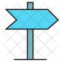 Guidepost Signpost Direction Icon