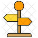 Guidepost Direction Signpost Icon