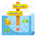 Guidepost Forest Map Travel Map Icon