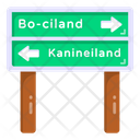 Guidepost Road Post Traffic Board Icon