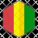 Guinea Flag Hexagon Icon