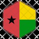 Guineabissau Flag Hexagon Icon