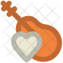 Guitar Heart Sign Icon