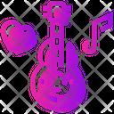 Valentine Day Guitar Music Icon