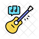 Playing Guitar Color Icon