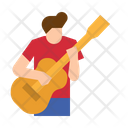 Guitar Music Playing Icon