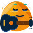 Guitar Emoji Face Icon