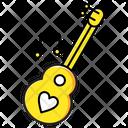 Guitar Heart Music Icon