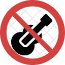 Guitar not allowed Icon