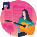Guitar Performance Guitarist Guitar Player Icon