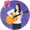 Guitar Playing Guitarist Guitar Player Icon