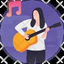 Guitar Playing Guitarist Guitar Player Icon