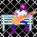 Bench Guitar Guitarist Icon