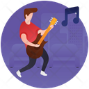 Guitarist Party Musician Christmas Party Icon