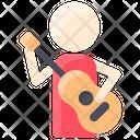 Film Guitarist Singing Icon
