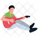 Music Students Singing Class Guitarist Icon