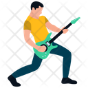 Male Rock Star Guitar Player Guitarist Icon