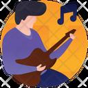 Playing Guitar Guitar Player Guitarist Icon
