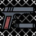 Gun Silencer Crime Icon