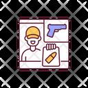 Gun Illegal Dealer Icon