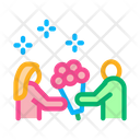 Guy Give Flowers Icon