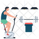 Gym Exercise Dumbbells Icon