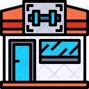 Gym Building Exercise Icon